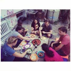 Gypsy family dinner