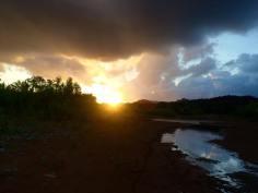 sunset fishing for piranhas