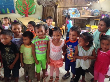visiting local Kuna children at school